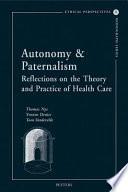 Autonomy   Paternalism