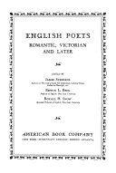 English Poets  Romantic  Victorian and Later