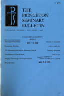 The Princeton Seminary Bulletin