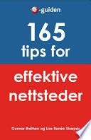 165 tips for effektive nettsteder