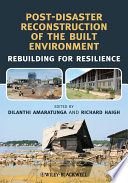Post Disaster Reconstruction of the Built Environment