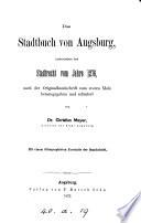 Das Stadtbuch von Augsburg