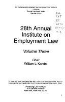 Annual Institute on Employment Law