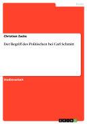Der Begriff des Politischen bei Carl Schmitt  autofilled