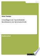 Grundlagen der Sportdidaktik - Koedukation im Sportunterricht