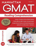 Reading Comprehension GMAT Strategy Guide  5th Edition