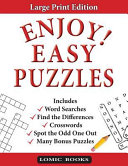 Enjoy  Easy Puzzles Book PDF
