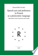 Speech acts and politeness in French as a pluricentric language