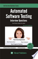 Automated Software Testing Interview Questions You ll Most Likely Be Asked Book PDF
