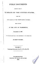 Public Documents The Senate of the United States First Session of the Twenty Sixth Congress Volume V December 2 1839 In Eight Volumes Containing Documents from No 197 to No 278