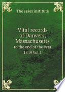Vital records of Danvers