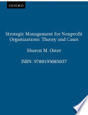 Strategic Management For Nonprofit Organizations : annually, and number over a...