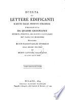 Della scelta delle lettere scritte dell  India  libri quattro  lib  1 3