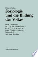 Soziologie und die Bildung des Volkes