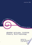 Abelian Groups  Module Theory  and Topology
