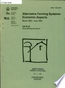 Alternative Farming Systems, Economic Aspects