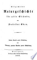 Allgemeine Naturgeschichte für alle Stände