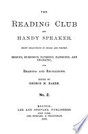The Reading Club and Handy Speaker Book PDF