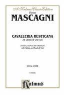 Cavalleria Rusticana  Vocal Score  Italian  English Language Edition   Comb Bound Vocal Score