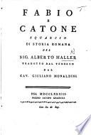Fabio E Catone Squarcio Di Storia Romana Del Sig A H Tradotto Dal Tedeseo Dal Cav G Monaldini