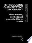 Introducing Quantitative Geography