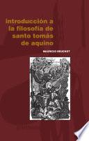 Introducci N A La Filosof A De Santo Tom S De Aquino
