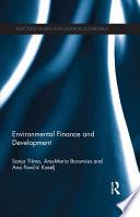 Environmental Finance and Development