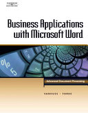 Business Applications with Microsoft Word