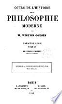 Cours de l histoire de la philosophie moderne    cole   cossaise