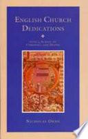 English Church Dedications