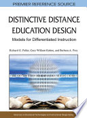Distinctive Distance Education Design Models For Differentiated Instruction