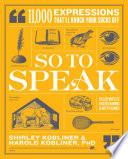 So to Speak Book PDF