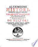 Algemeene histori  beschreven door een gezelschap van geleerde mannen in Engeland     VI  deel  I  en II  stuk  waarin vervat is de histori van Lacedemonie  Achaie  Etolie  Athene  Beotie  Acarnanie  Epirus  Ionie  Sicilie  en Syracuse