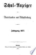 Schulanzeiger für Unterfranken und Aschaffenburg