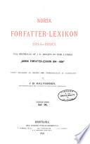 Norsk forfatter lexikon  1814 1880