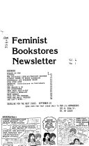 Feminist Bookstores Newsletter Book PDF