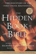 The Hidden Book in the Bible The First Work Of Prose Literature In