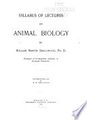 Syllabus of Lectures on Animal Biology