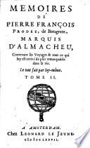 Memoires De Pierre François Prodez, de Beragrem, Marquis D'Almacheu