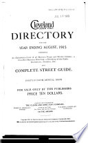 The Cleveland Directory Co  s Cleveland  Cuyahoga County  Ohio  City Directory