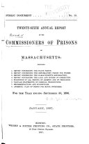 Annual Report of the Commissioners of Prisons of Massachusetts ...