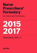 Nurse Prescribers' Formulary 2015-2017