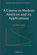 A Course in Modern Analysis and Its Applications