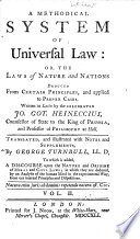 A Methodical System of Universal Law