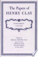 The Papers Of Henry Clay