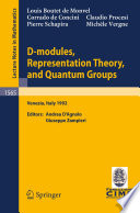 illustration D-modules, Representation Theory, and Quantum Groups