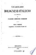 Vocabolario bolognese italiano
