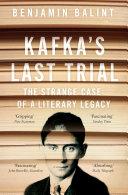 Book Kafka s Last Trial