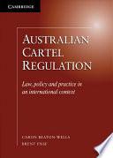 Australian Cartel Regulation