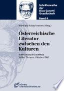 Österreichische Literatur zwischen den Kulturen